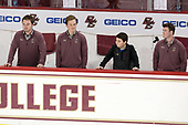 Brian Hurley (BC - Student Manager), Chuck Van Kula (BC - Student Manager) - The Boston College Eagles defeated the visiting Providence College Friars 3-1 on Friday, October 28, 2016, at Kelley Rink in Conte Forum in Chestnut Hill, Massachusetts.The Boston College Eagles defeated the visiting Providence College Friars 3-1 on Friday, October 28, 2016, at Kelley Rink in Conte Forum in Chestnut Hill, Massachusetts.