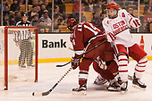 Alexander Kerfoot (Harvard - 14), Charlie McAvoy (BU - 7) - The Harvard University Crimson defeated the Boston University Terriers 6-3 (EN) to win the 2017 Beanpot on Monday, February 13, 2017, at TD Garden in Boston, Massachusetts.
