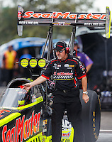 Sep 25, 2016; Madison, IL, USA; Rob Flynn , crew chief for NHRA top fuel driver J.R. Todd during the Midwest Nationals at Gateway Motorsports Park. Mandatory Credit: Mark J. Rebilas-USA TODAY Sports