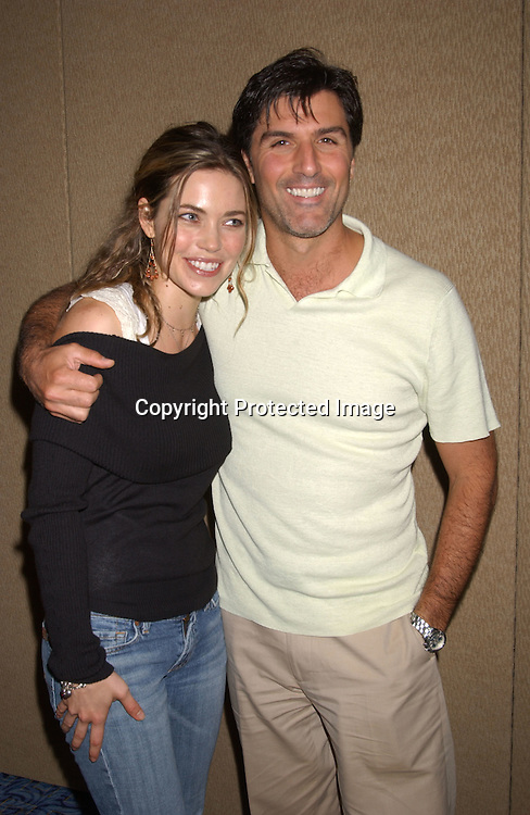 Vincent Irizarry and Amelia Heinle                                ..at the All My Children Fan Club Luncheon on August 10, 2003 at the Marriott Marquis in New York.                           Photo by Robin Platzer, Twin Images