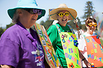 "Members of the Team Family and Friends dress to the theme of ""celebrating decades of fighting cancer"" at the Los Altos/Los Altos Hills Relay for Life."