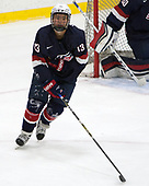 Tyler Inamoto (NTDP - 13) - The Harvard University Crimson defeated the US National Team Development Program's Under-18 team 5-2 on Saturday, October 8, 2016, at the Bright-Landry Hockey Center in Boston, Massachusetts.