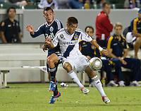 CARSON, CA - September 1, 2012: LA Galaxy midfielder Hector Jimenez (16) during the LA Galaxy vs the Vancouver Whitecaps FC at the Home Depot Center in Carson, California. Final score LA Galaxy 2, Vancouver Whitecaps FC 0.