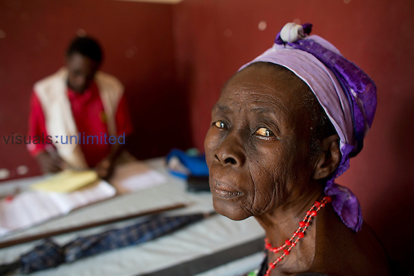 Elderly woman patient in MSF hospital in Bossangoa, Central African Republic