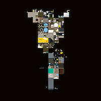 Abstract collage on black background  ExclusiveImage ExclusiveArtist