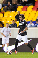 Giuseppe Guerriero (11) of the Providence Friars. The Providence Friars defeated the Cincinnati Bearcats 2-1 during the semi-finals of the Big East Men's Soccer Championship at Red Bull Arena in Harrison, NJ, on November 12, 2010.
