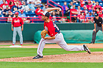 7 March 2015: Washington Nationals pitcher Bruce Billings in Spring Training action against the St. Louis Cardinals at Space Coast Stadium in Viera, Florida. The Nationals rallied to defeat the Cardinals 6-5 in Grapefruit League play. Mandatory Credit: Ed Wolfstein Photo *** RAW (NEF) Image File Available ***