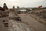 Castillo de San Felipe in Cartagena, Colombia .Photo by Robert Caplin..