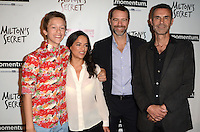 HOLLYWOOD, CA - SEPTEMBER 27: Percy Hynes White, Michelle Rodriguez, David Sutcliffe and Barnet Bain at the premiere of Momentum Pictures' 'Milton's Secret' at the TCL Chinese 6 Theatre on September 27, 2016 in Hollywood, California. Credit: David Edwards/MediaPunch
