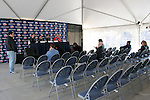 10 December 2005: The University of New Mexico Lobos held a press conference the day before playing in the NCAA Men's College Cup, the Division I Championship soccer game, at SAS Stadium in Cary, NC..