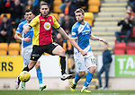 St Johnstone v Partick Thistle&hellip;29.10.16..  McDiarmid Park   SPFL<br />David Wotherspoon passes the ball to Steven MacLean who scores saints goal<br />Picture by Graeme Hart.<br />Copyright Perthshire Picture Agency<br />Tel: 01738 623350  Mobile: 07990 594431