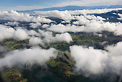 The landscape of Papua New Guinea, as seen from an airplane window, Papua New Guinea,  Wednesday 17th September 2008..