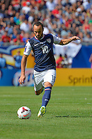Chicago, IL - Sunday July 28, 2013:  United States forward Landon Donovan (10) during the CONCACAF Gold Cup Finals soccer match between the USMNT and Panama, at Soldier Field in Chicago, IL.