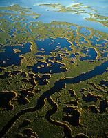 Aerial view Everglades National Park, Florida  March Ten Thousand Islands