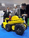 Nobember 9, 2011, Tokyo, Japan - Probing mobile robot for firefighting is on demonstration during the International Robot Exhibition 2011 opened in Tokyo on Wednesday, November 9, 2011. The three-day trade show, sponsored by the Japan Robot Association, was designed promote new products and develop new business through contributing the promotion of new technology. (Photo by Natsuki Sakai/AFLO) [3615] -mis-..