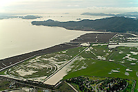 aerial photograph flooding Marin County, California
