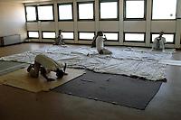 Roma 29 Agosto 2008.Centro accoglienza rifugiati di Castelnuovo di Porto..La Moschea.Refugee acceptance centre of Castelnuovo di Porto..The mosque.