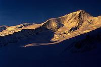 Gross Wannenhorn (3906m) at sunrise, Berner Oberland, Switzerland, 1997