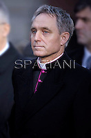 Monsignor Georg Gaenswein private secretary to Pope Benedict XVI prayer ceremony during the traditionnal visit to the statue of Mary on the day of the celebration of the Immaculate Conception et Piazza di Spagna (Spanish Square) on December 8, 2012..