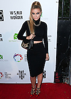 LOS ANGELES, CA, USA - OCTOBER 14: Carmen Electra arrives at the Marco Marco: Collection Three 2015 Runway Presentation held at the Viviana Cathedral on October 14, 2014 in Los Angeles, California, United States. (Photo by Xavier Collin/Celebrity Monitor)