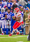 9 November 2014: Kansas City Chiefs running back De'Anthony Thomas pulls in a punt during the second quarter against the Buffalo Bills at Ralph Wilson Stadium in Orchard Park, NY. The Chiefs rallied with two fourth quarter touchdowns to defeat the Bills 17-13. Mandatory Credit: Ed Wolfstein Photo *** RAW (NEF) Image File Available ***