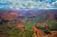 "Incredible Waimea Canyon on the Garden Isle of Kauai Hawaii, ""Grand Canyon of the Pacific."""