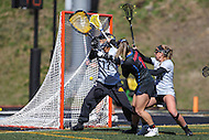 Towson, MD - March 5, 2017: Florida Gators Sammi Burgess (2) scores during game between Towson and Florida at  Minnegan Field at Johnny Unitas Stadium  in Towson, MD. March 5, 2017.  (Photo by Elliott Brown/Media Images International)