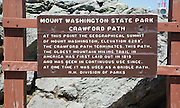 Appalachian Trail - The summit of Mount Washington in the White Mountains, New Hampshire.