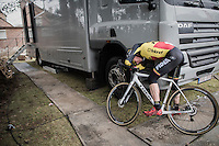 Belgian U23 CX Champion Thijs Aerts (BEL/U23/Telenet-Fidea) stranded within 2 seconds of race winner Eli Yserbyt and dug very deep in doing so<br /> <br /> U23 race<br /> GP Sven Nys 2017