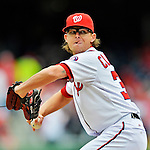 12 April 2012: Washington Nationals pitcher Tyler Clippard in action against the Cincinnati Reds at Nationals Park in Washington, DC. The Nationals defeated the Reds 3-2 in 10 innings to take the first game of their 4-game series. Mandatory Credit: Ed Wolfstein Photo
