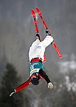 16 January 2009: Cord Spero from Canada performs aerial acrobatics during the FIS Freestyle World Cup warm-ups at the Olympic Ski Jumping Facility in Lake Placid, NY, USA. Mandatory Photo Credit: Ed Wolfstein Photo. Contact: Ed Wolfstein, Burlington, Vermont, USA. Telephone 802-864-8334. e-mail: ed@wolfstein.net