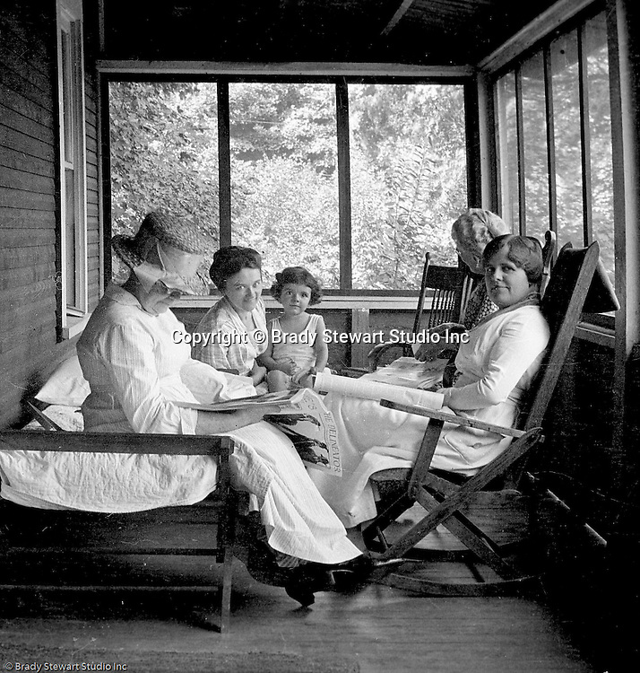 North East PA:  Stewart family on vacation at a cabin on the shores of Lake Erie near North East PA.  In the photo are (clockwise) Sarah Stewart's mother, Sarah and Helen Stewart, Alice Stewart and Aunt Helen Stewart.