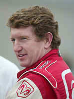 Bill Elliott awaits his turn to qualify for the Pop Secret 400 NASCAR Winston Cup race at Rockingham, NC on Friday, November 7, 2003. (Photo by Brian Cleary)