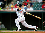 4 September 2009: Cleveland Indians' utilityman Jamey Carroll in action against the Minnesota Twins at Progressive Field in Cleveland, Ohio. Carroll went 3 for 5 as the Indians defeated the Twins 5-2 to take the first game of their three-game weekend series. Mandatory Credit: Ed Wolfstein Photo