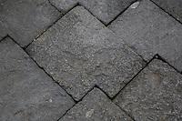 Borobudur, Java, Indonesia.  Construction Technique.  Stones Cut so as to Receive other interlocking stones.