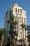The Sunset Tower hotel on the Sunset strip in Los Angeles, California