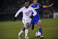 Julius James, Davy Arnaud (22)...Kansas City Wizards defeated D.C Utd 4-0 in their home opener at Community America Ballpark, Kansas City, Kansas.