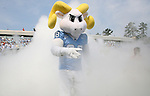 09 September 2006: North Carolina mascot Rameses leads the players onto the field for the start of the game. The University of North Carolina Tarheels lost 35-10 to the Virginia Tech Hokies at Kenan Stadium in Chapel Hill, North Carolina in an Atlantic Coast Conference NCAA Division I College Football game.