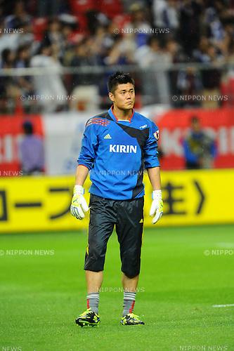Eiji Kawashima (JPN),<br /> MAY 30, 2013 - Football / Soccer :<br /> Eiji Kawashima of Japan warms up before the Kirin Challenge Cup 2013 match between Japan 0-2 Bulgaria at Toyota Stadium in Aichi, Japan. (Photo by AFLO)