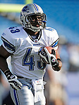 3 September 2009:  Detroit Lions' running back Tristan Davis warms up prior to a pre-season game against the Buffalo Bills at Ralph Wilson Stadium in Orchard Park, New York. The Lions defeated the Bills 17-6...Mandatory Photo Credit: Ed Wolfstein Photo