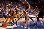 Eloy Vargas reaches out of bounds for the ball in the first half of the UK's win over Coppin State at Rupp Arena on Dec. 28, 2010. Photo by Britney McIntosh | Staff