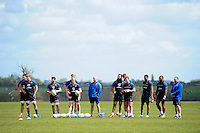 Bath Rugby players and coaches look on. Bath Rugby training session on May 3, 2016 at Farleigh House in Bath, England. Photo by: Patrick Khachfe / Onside Images