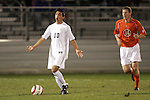 1 November 2006: Virginia's Jonathan Villanueva (10) and Clemson's Jeff Routh (14). Virginia defeated Clemson 2-0 at the Maryland Soccerplex in Germantown, Maryland in an Atlantic Coast Conference college soccer tournament quarterfinal game.
