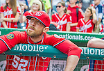22 September 2013: Washington Nationals pitcher Ryan Mattheus watches the video tribute to Manager Davey Johnson prior to a game against the Miami Marlins at Nationals Park in Washington, DC. The Marlins defeated the Nationals 4-2 in the first game of their day/night double-header. Mandatory Credit: Ed Wolfstein Photo *** RAW (NEF) Image File Available ***