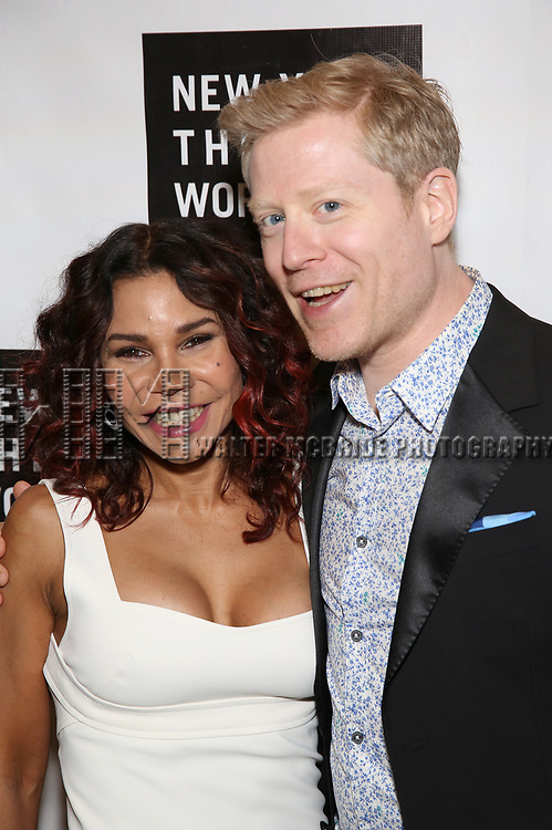 Daphne Rubin Vega and Anthony Rapp attends New York Theatre Workshop's 2017 Spring Gala at the Edison Ballroom on May 15, 2017 in New York City.