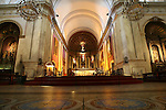 Montevideo, Uruguay - Inside a catholic church in downtown Montevideo