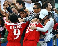 Korea DPR celebrate their win..FIFA U17 Women's World Cup Final, USA v Korea DPR, Albany Stadium, Auckland, New Zealand, Sunday 16 November 2008. Photo: Renee McKay/PHOTOSPORT