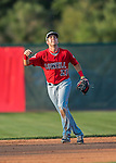4 September 2016: Lowell Spinners infielder C.J. Chatham in action against the Vermont Lake Monsters at Centennial Field in Burlington, Vermont. The Spinners defeated the Lake Monsters 8-3 in NY Penn League action. Mandatory Credit: Ed Wolfstein Photo *** RAW (NEF) Image File Available ***