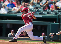NWA Democrat-Gazette/JASON IVESTER<br /> Arkansas vs Mississippi State on Sunday, March 19, 2017, at Baum Stadium in Fayetteville.