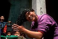 April 15th, 1989, Poyang, Jiangxi Province, China: daily life, steet scenes.